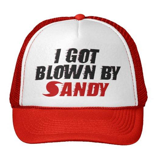 Conseguí soplado por Sandy - gorra de Sandy del hu