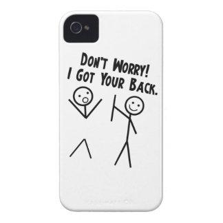 Conseguí su parte posterior - no se preocupe carcasa para iPhone 4 de Case-Mate