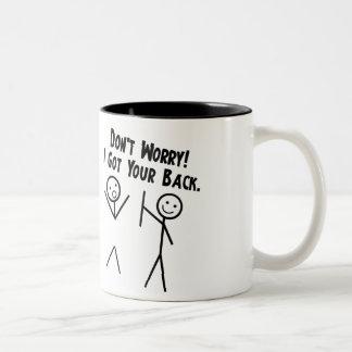 Conseguí su parte posterior - no se preocupe taza de café