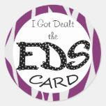 Conseguí traté la tarjeta de Ehlers-Danlos EDS Pegatinas Redondas