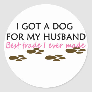 Conseguí un perro para mi comercio del mejor del pegatina redonda
