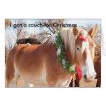 Conseguí un sofá para el navidad…. felicitacion