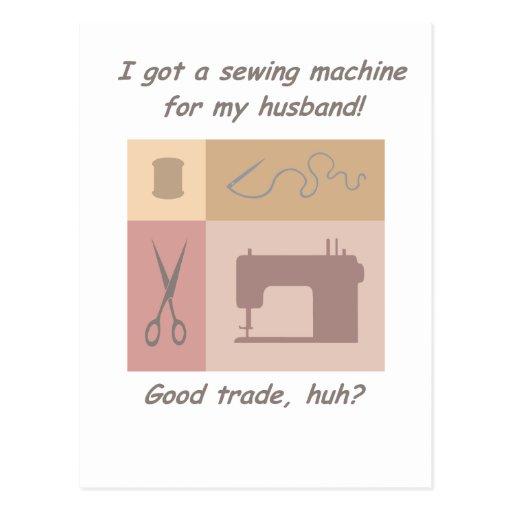 Conseguí una máquina de coser tarjetas postales