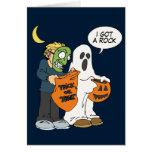 Conseguí una tarjeta de Halloween de la roca