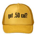 conseguido .50 caloría gorros bordados