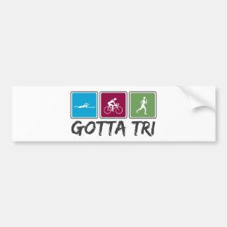 conseguido a tri (Triathlon) Pegatina Para Auto