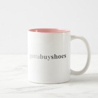 """Conseguido - """"consiguió comprar zapatos """" taza"""