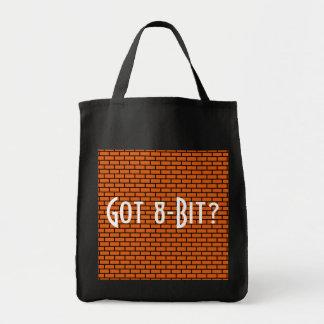 ¿Conseguido de 8 bits? Ladrillo anaranjado Bolsa Tela Para La Compra