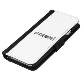 conseguido de congelación de la espátula funda cartera para iPhone 6