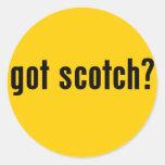 ¿conseguido escocés? pegatina redonda