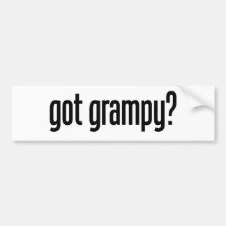 conseguido grampy etiqueta de parachoque