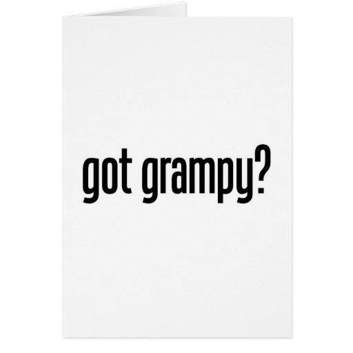 conseguido grampy tarjeta de felicitación
