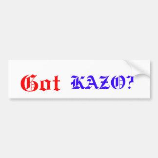 ¿Conseguido, KAZO? Pegatina Para Auto