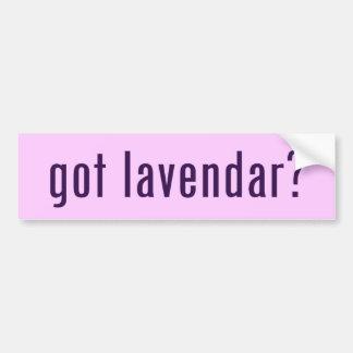 ¿conseguido lavendar? etiqueta de parachoque