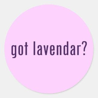 ¿conseguido lavendar? pegatina redonda