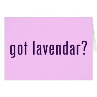 ¿conseguido lavendar? felicitación