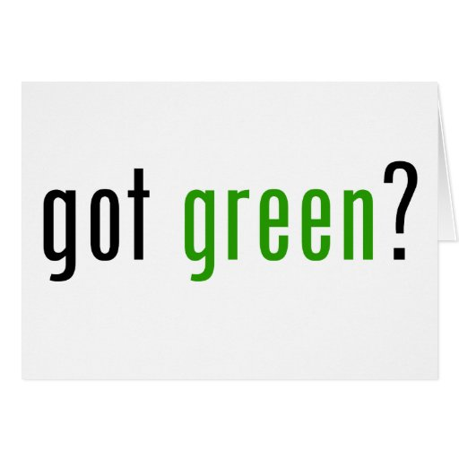 ¿Conseguido verde? Tarjeta De Felicitación