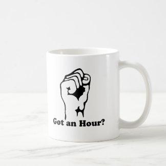 ¿Conseguido y hora? Taza De Café