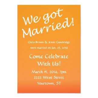 ¡Conseguimos casados! invitación del banquete de