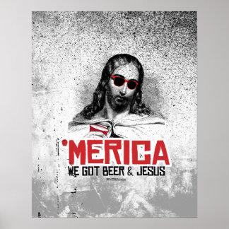 Conseguimos la cerveza y a Jesús Póster