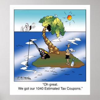 Conseguimos nuestras 1040 cupones del impuesto est póster