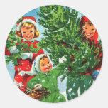 Conseguir a los pegatinas del árbol de navidad