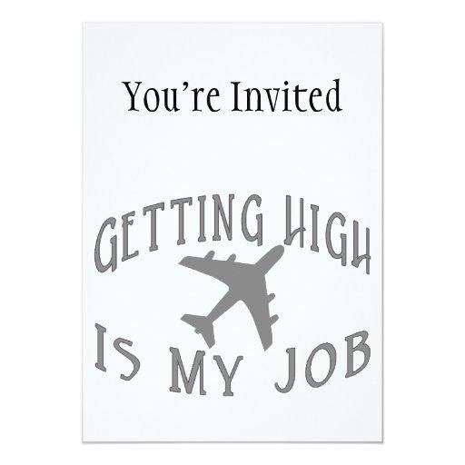 """Conseguir al alto piloto de la línea aérea invitación 5"""" x 7"""""""