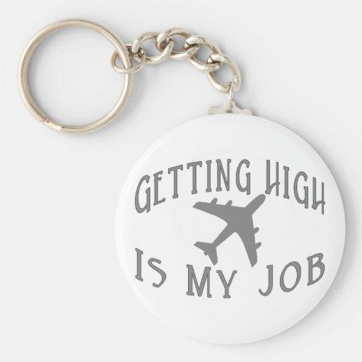 Conseguir al alto piloto de la línea aérea llaveros personalizados