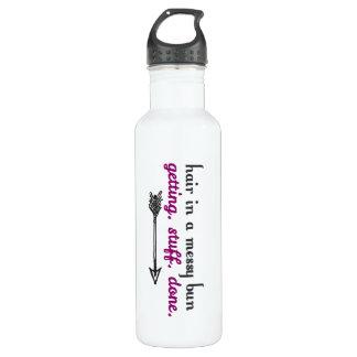 Conseguir la botella de agua hecha materia