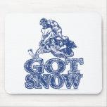 Conseguir-Nieve-Apenar-Azul Alfombrilla De Ratones