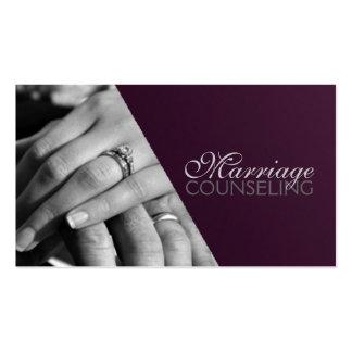 Consejería matrimonial terapeuta coche de la plantilla de tarjeta de visita