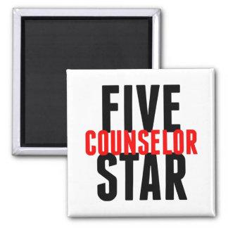 Consejero de cinco estrellas imán cuadrado