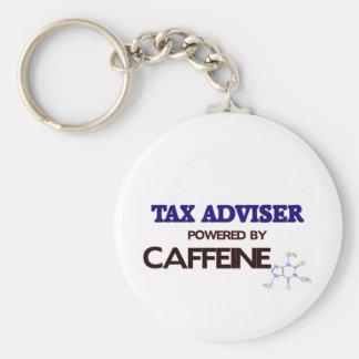 Consejero de impuesto accionado por el cafeína llavero redondo tipo pin