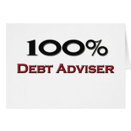 Consejero de la deuda del 100 por ciento tarjetas