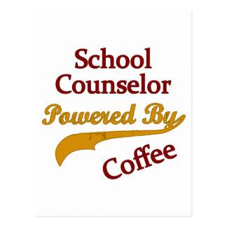 Consejero de la escuela accionado por el café postales