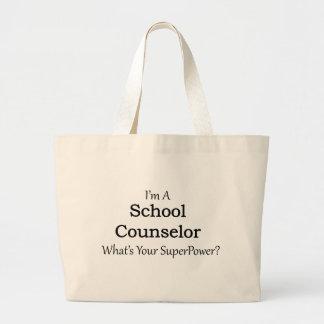 Consejero de la escuela bolsa tela grande