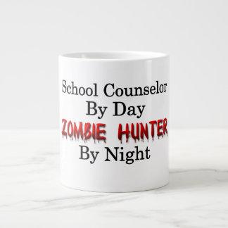 Consejero de la escuela/cazador del zombi taza de café grande