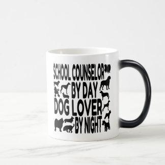 Consejero de la escuela del amante del perro taza mágica