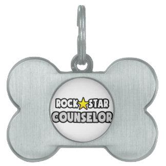 Consejero de la estrella del rock placa de nombre de mascota