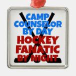 Consejero del campo del amante del hockey ornamentos de reyes magos