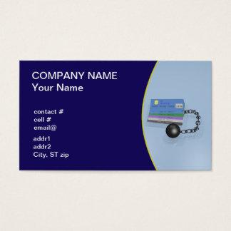 Consejero del crédito tarjetas de visita