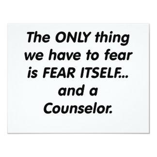 consejero del miedo comunicado personalizado