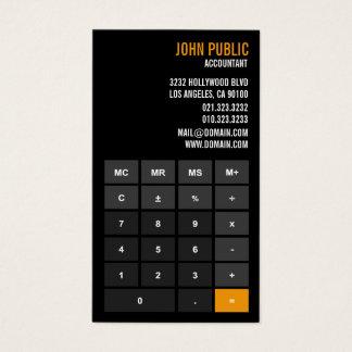 Consejero financiero de la calculadora del tarjeta de negocios
