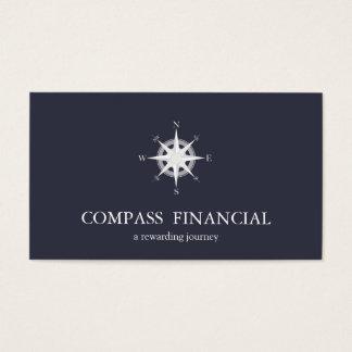 Consejero financiero náutico de los azules marinos tarjeta de negocios