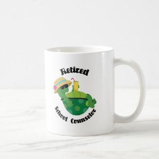 Consejero jubilado de la escuela (tortuga) taza de café