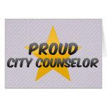 Consejero orgulloso de la ciudad felicitación