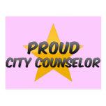 Consejero orgulloso de la ciudad tarjetas postales