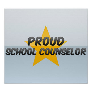 Consejero orgulloso de la escuela póster