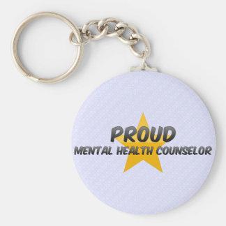Consejero orgulloso de la salud mental llavero redondo tipo pin