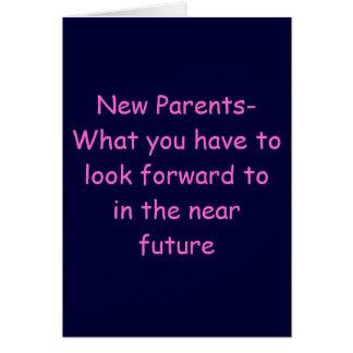 CONSEJO A NUEVO PARENTS-BABY CONGRATS TARJETA DE FELICITACIÓN